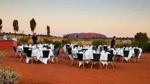 Dine under the stars at Sails in the Desert Ayers Rock