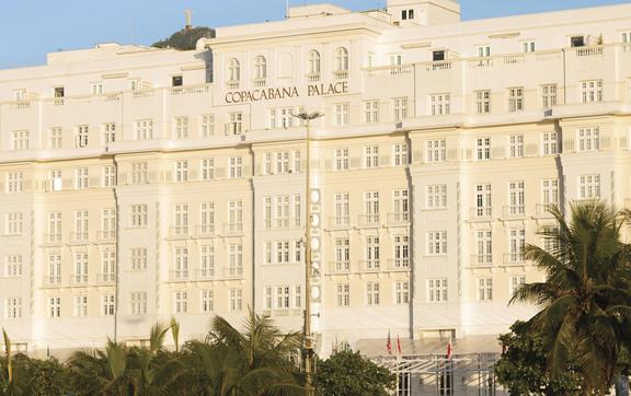 Belmond Copacana Palace facade, exterio,r luxury accommodation Brazil, Rio De Janeiro