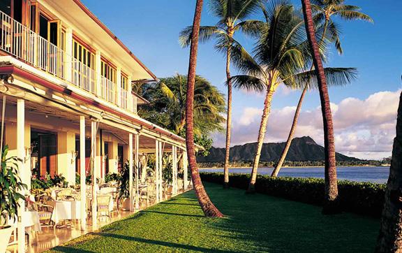 exterior, beach, view, Halekulani Waikiki