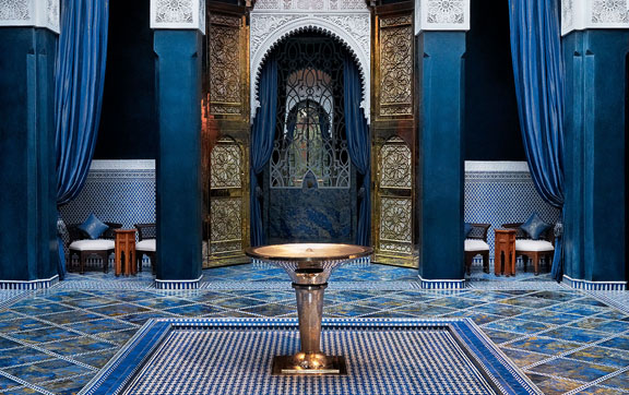 A fountain that can be found at The Royal Mansour, Marrakech, Morroco