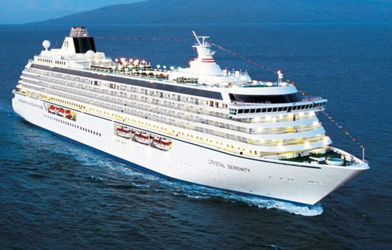 The Crystal Serenity Afloat