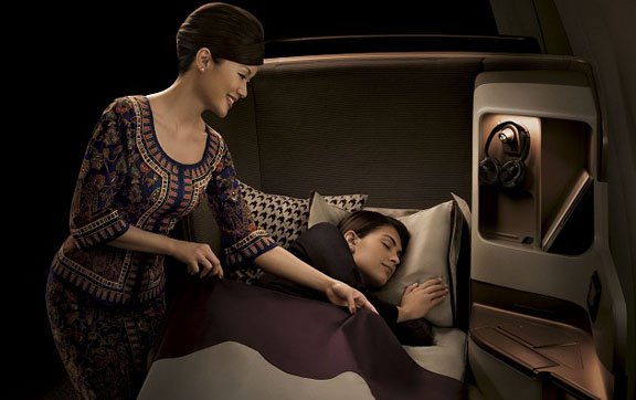 Singapore Airlines Business Class Sleep