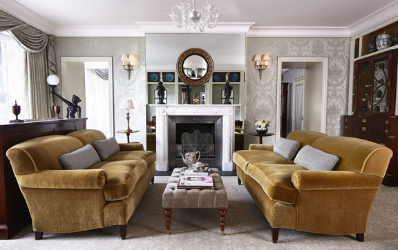 The living room of the Royal Suite, at The Goring Hotel, London.