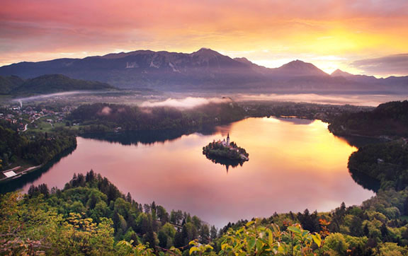 Bled Lake in Slovenia