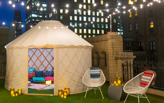 Glamping at W New York