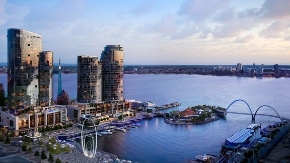 A view of Perth Harbour from The Ritz Carlton