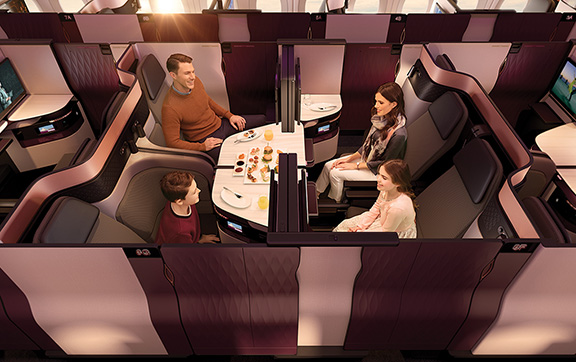 Family Onboard Qatar's New Business Class