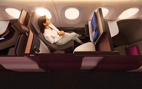 Qatar's New Business Class Seat