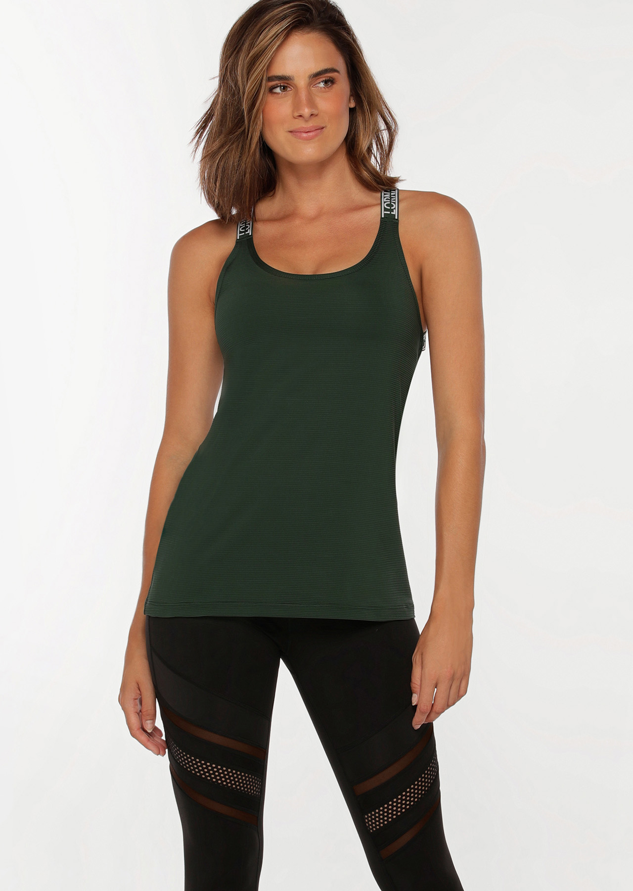iconic strappy excel tank green 042052 dgr 1 - Sports & Fitness
