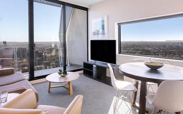 Stay in Style in a Modern Studio Apartment at Oaks on William Melbourne
