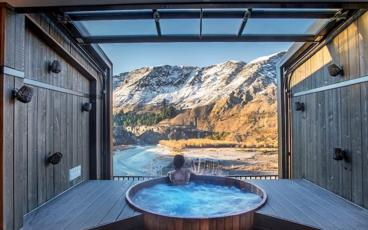 Unwind In a Private Hot Pool Overlooking Shotover River Canyon