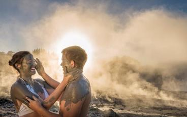 Mud Baths Sulphur Spas and Hot Water Waterfalls at Hells Gate