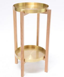 Brass Tray Side Table
