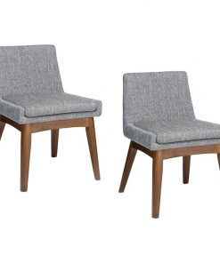 Evy Coral Grey Dining Chair (Set of 2)