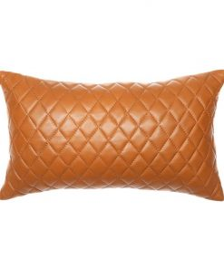 Pages Rectangular Leather Cushion