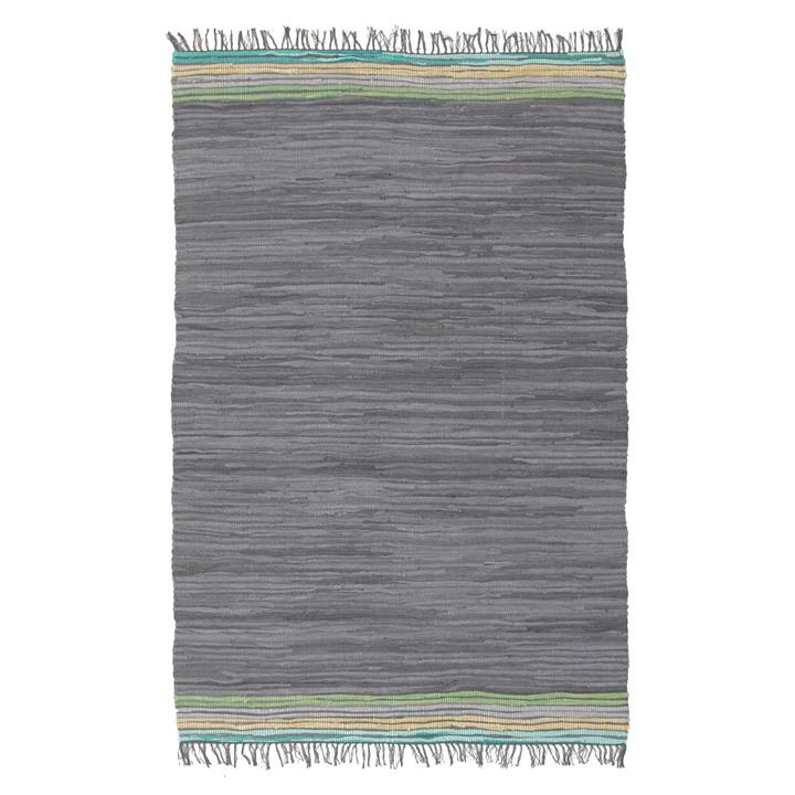 Tropical Breeze Tortuga Handcrafted Flatweave Rug