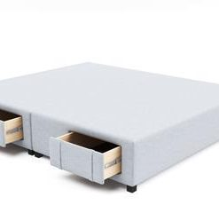 King Size Upholstered Bed Frame Base with Storage Drawers