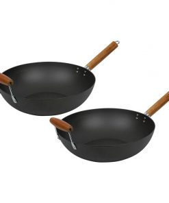 Lotus Rock Non-Stick Wok with Handle (Set of 2)