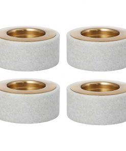 Marbre Marble Pillar Candle Holder (Set of 4)