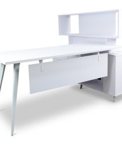 Stylus Executive Office Desk with Single Face Top Cabinet - Left...