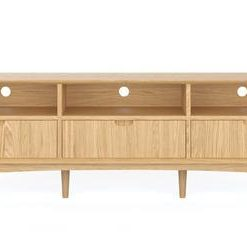 Mia Large Entertainment Unit - Oak