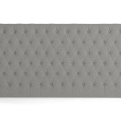 Emily King Size Bed Head Wide - Stone Grey