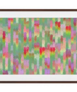 The Candy Print Dark Brown Wood Frame Small