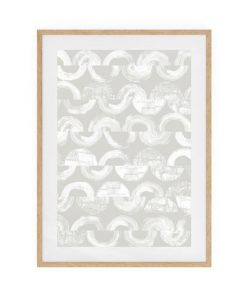 The Vector Print Natural Wood Frame Medium Silver
