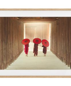 The Monks Print Natural Wood Frame Small