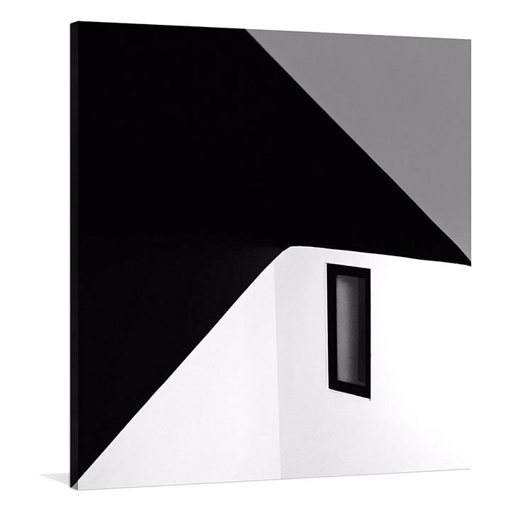 Black Window Square Canvas Print