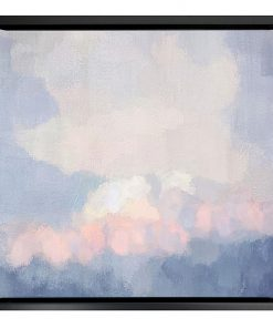 Abstract Clouds Framed Canvas Print