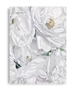 White Flowers Canvas Art