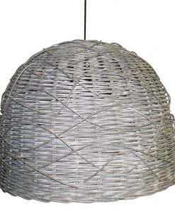 Rattan Curved Pendant Light