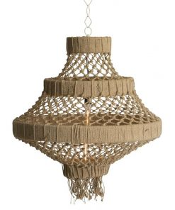 Makena 3-Tier Jute Chandelier