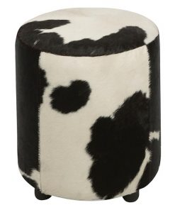 Rond Cowhide Ottoman