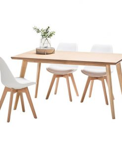 Bruno 7-Piece Replica Charles & Ray Eames Padded Dining Set