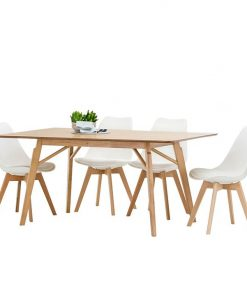 Alysa 5-Piece Replica Charles & Ray Eames Padded Dining Set