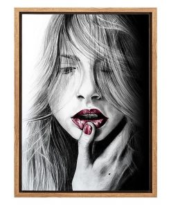 Spellbound Ruby Framed Canvas Print