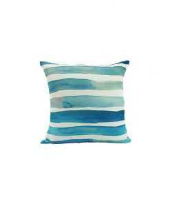 Blue Watercolour Stripe Cushion