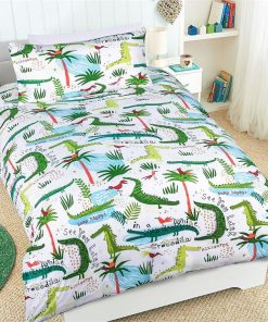 Crocodile Glow in the Dark Quilt Cover Set