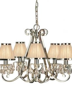 Luxuria 5-Light Chandelier with Shades
