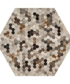 Angulo Hexagon Hide Rug