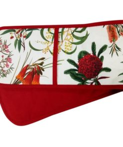 Maxwell & Williams Royal Botanic Double Oven Glove Red