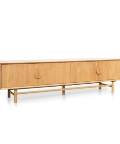 Ducan 2.1m Entertainment TV Unit - Natural by Interior Secrets - Pay with zipMoney