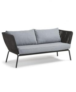 Bernon Indoor / Outdoor 2 Seater Sofa - Grey by Interior Secrets - Pay with zipMoney