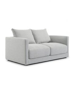 Delia 2 Fabric Seater Sofa - Light Texture Grey by Interior Secrets - AfterPay Available