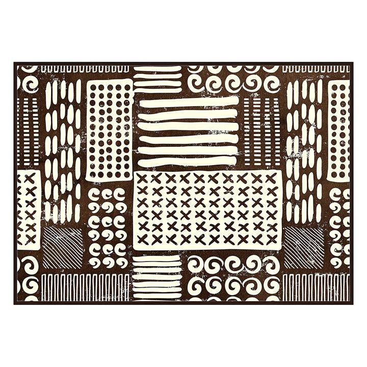 Tribal Abstract Framed Canvas Print