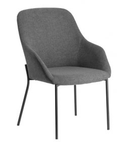 Fracta Fabric Dining Chair - Grey by Interior Secrets - AfterPay Available