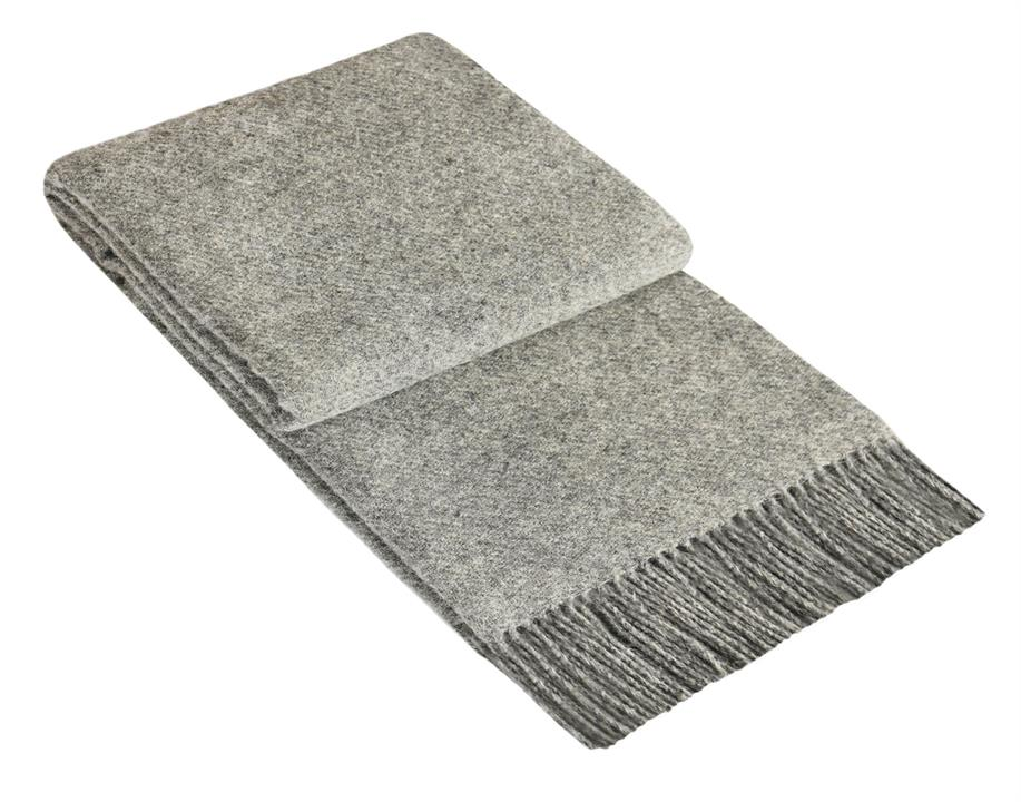Melanie 100% Wool Throw Rug - Melange Grey by Interior Secrets - AfterPay Available