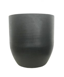 Silo 30cm Stone Vessel - Black by Interior Secrets - AfterPay Available